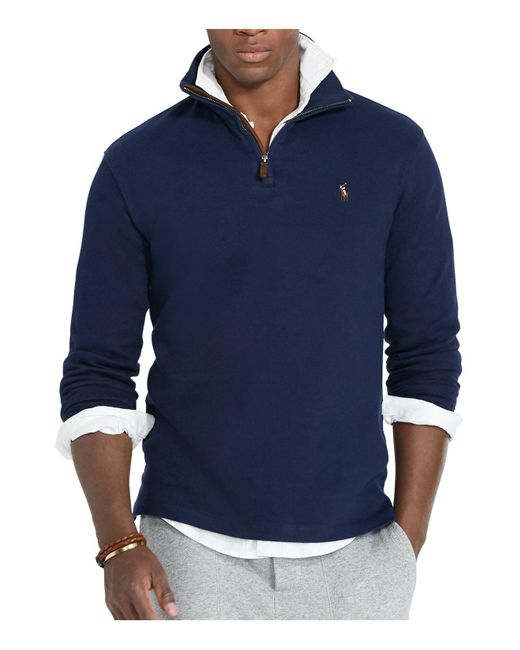 Polo ralph lauren Estate Rib Cotton Pullover Sweater in Blue for ...