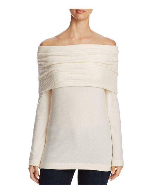 Three Dots - Natural Off-the-shoulder Sweater - Lyst