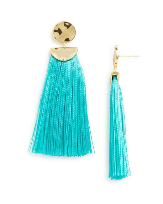 Gorjana - Blue Havana Circle Tassel Earrings - Lyst