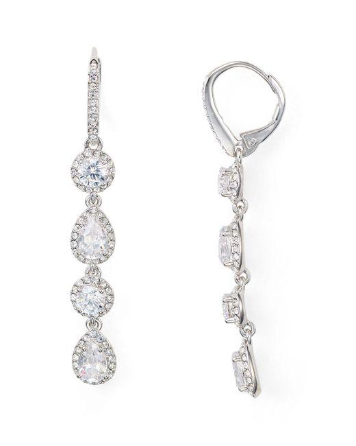 Nadri - Metallic Leverback Earrings - Lyst