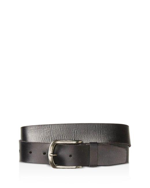 John Varvatos - Black Men's Basic Leather Belt for Men - Lyst