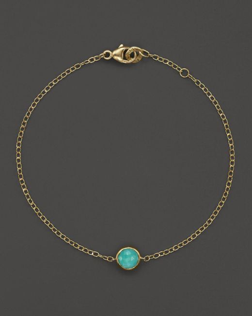 Ippolita - Metallic 18k Gold Mini-lollipop Bracelet In Turquoise - Lyst