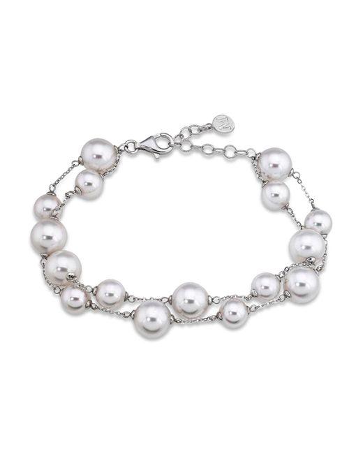 Majorica - Metallic Simulated Pearl Beaded Bracelet - Lyst