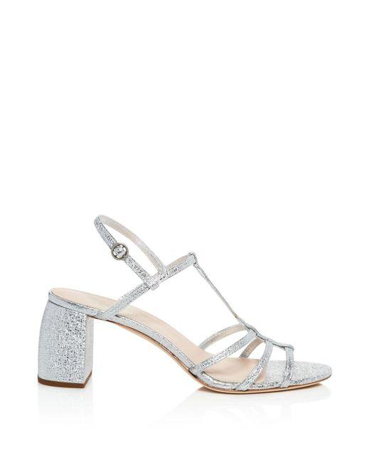 Loeffler Randall Women's Elena Leather T Strap Block Heel Sandals 1vwv0