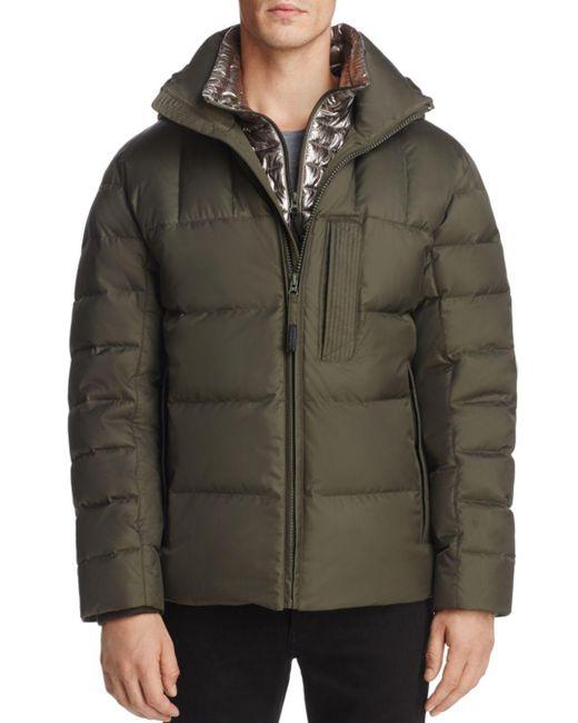 Andrew Marc - Green Breuil Mid-length Puffer Jacket for Men - Lyst