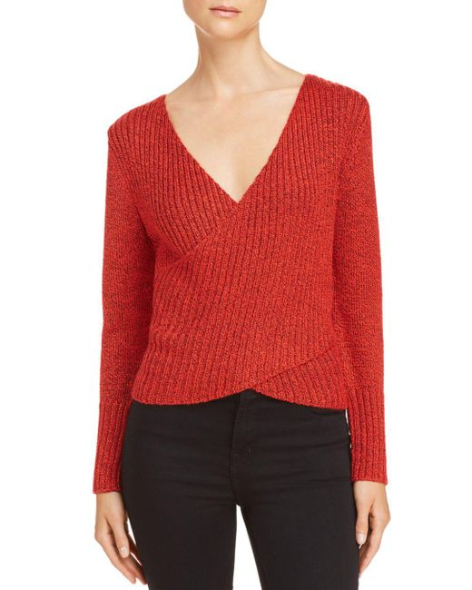 C/meo Collective - Red Evolution Crossover Sweater - Lyst