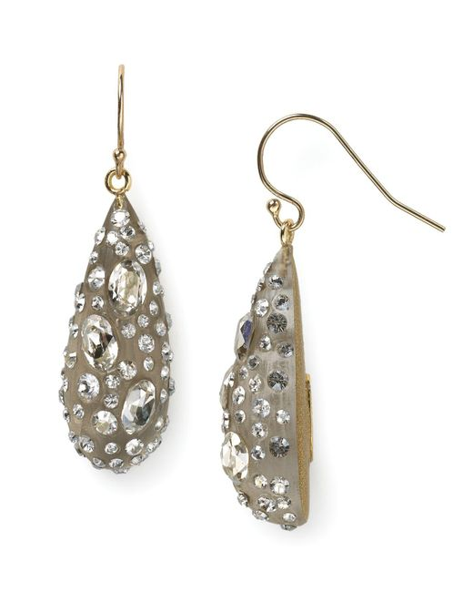 Alexis Bittar - Gray Lucite Crystal Dust Dewdrop Earrings - Lyst