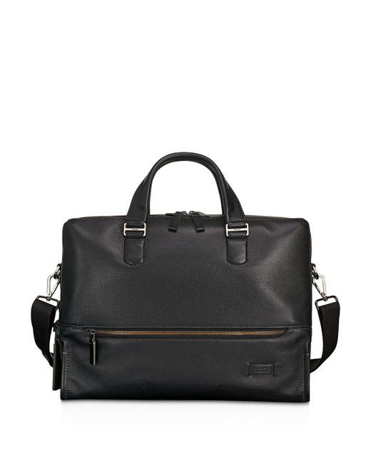 Tumi - Black Harrison Leather Horton Double Zip Briefcase - Lyst