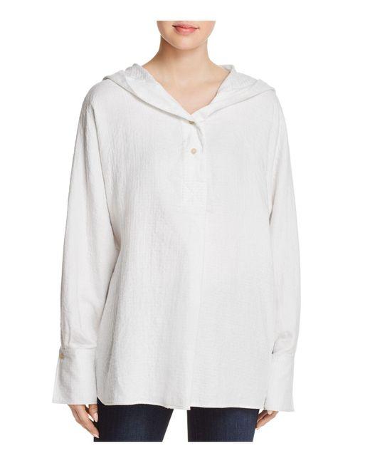 Elizabeth and James - White Carson Hooded Baja Shirt - Lyst