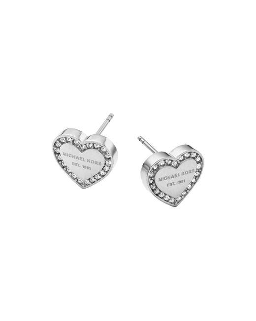 Michael Kors - Metallic Heart Stud Earrings - Lyst