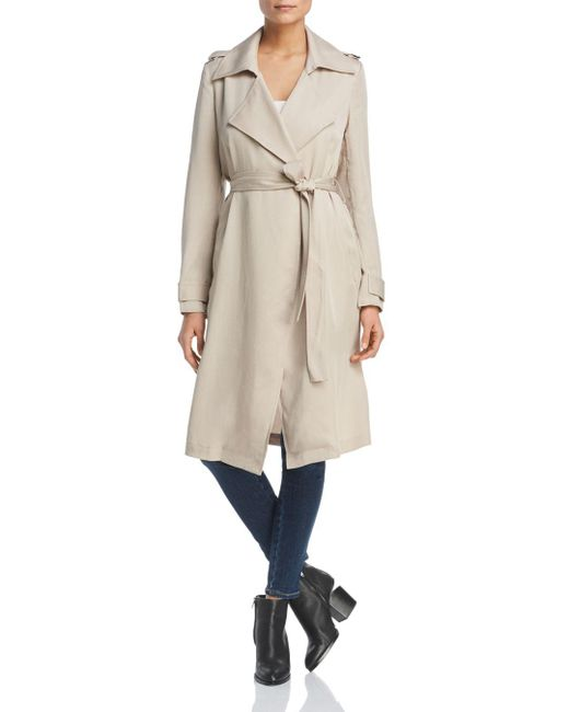 Bagatelle - Natural Drapey Trench Coat - Lyst