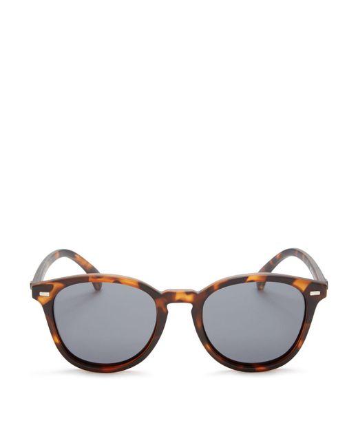 Le Specs - Gray Bandwagon Round Sunglasses, 50mm - Lyst