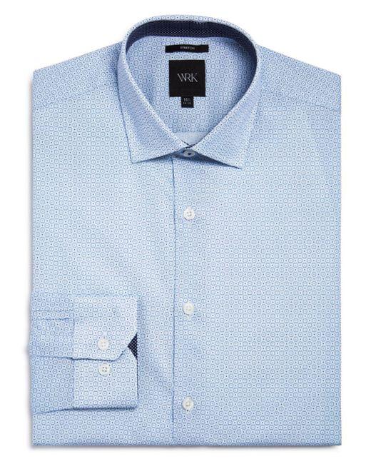 W.r.k. - Blue Square Dot Slim Fit Dress Shirt for Men - Lyst