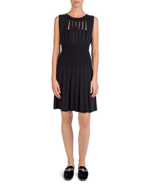 The Kooples - Black Sleeveless Strap-cutout Dress - Lyst