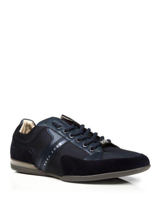 BOSS - Blue Hugo Spacit Sneakers for Men - Lyst