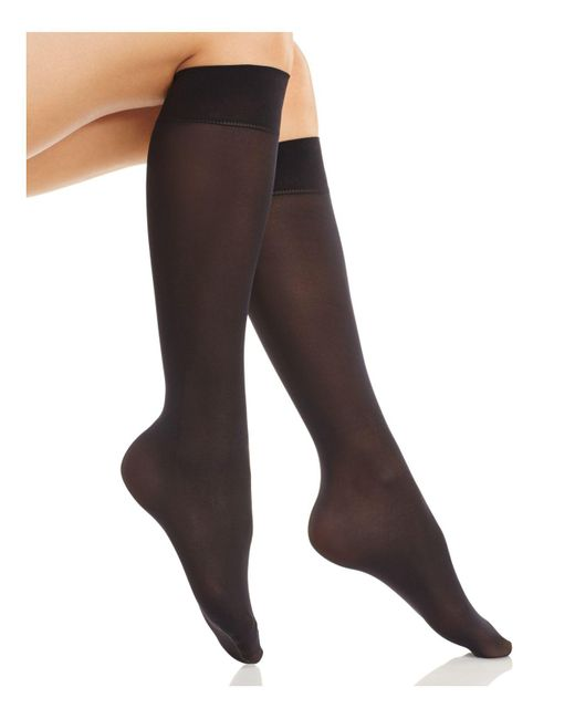 Fogal | Black Opaque Knee Socks | Lyst