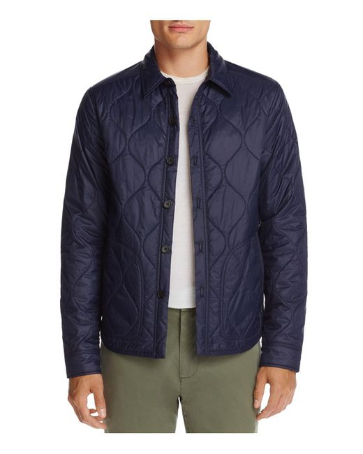 Michael Bastian - Blue Nylon Shirt Jacket for Men - Lyst
