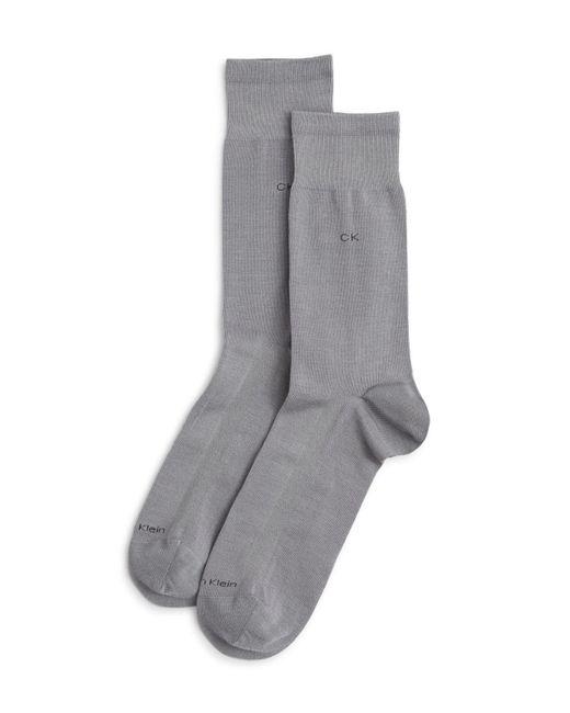 Calvin Klein   Gray Tech Cool Flat Knit Dress Socks for Men   Lyst