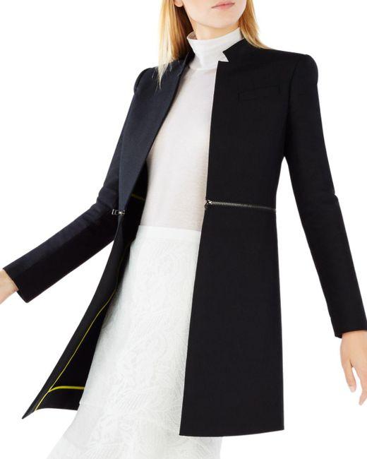 BCBGMAXAZRIA - Black Arelia Zip Waist A-line Jacket - Lyst