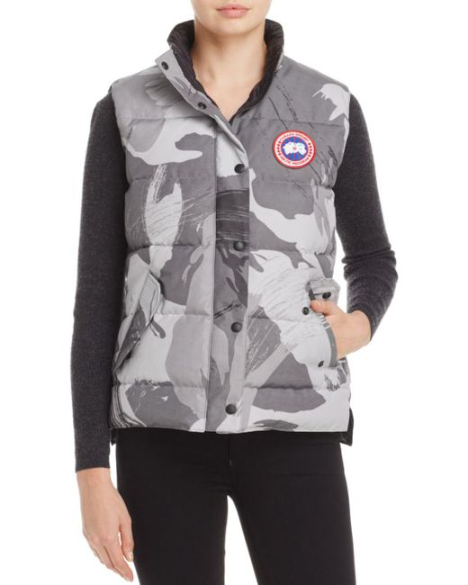Canada Goose - Gray Freestyle Camo Down Vest - Lyst