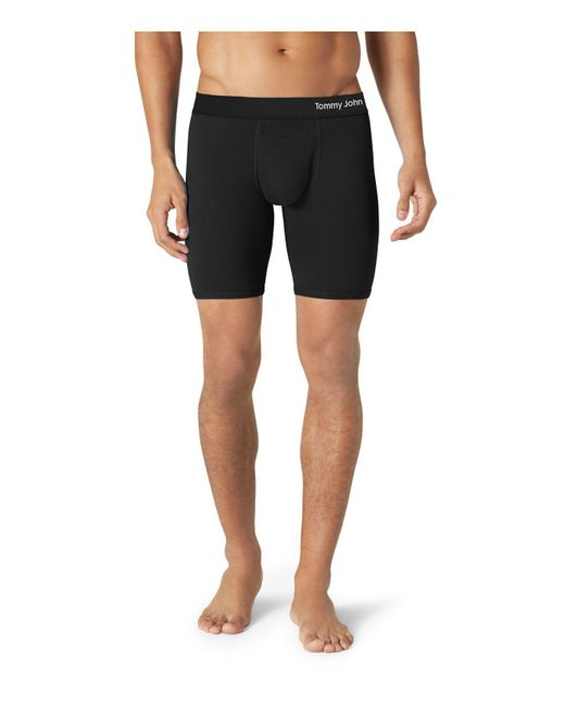 Tommy John | Black Cool Cotton Boxer Briefs for Men | Lyst
