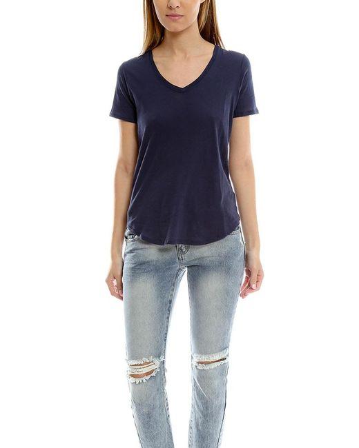 ATM | Blue Atm Short Sleeve V Neck Tee | Lyst