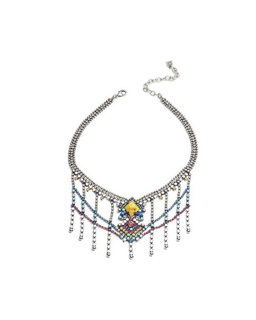 DANNIJO - Metallic Cubana Necklace - Lyst