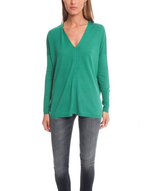Vince   Green V Neck Sweater   Lyst
