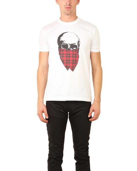 Markus Lupfer | White Tartan Skull T Shirt for Men | Lyst