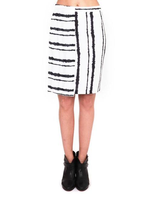 A.L.C. - White Walsh Skirt Bleed Stripe - Lyst