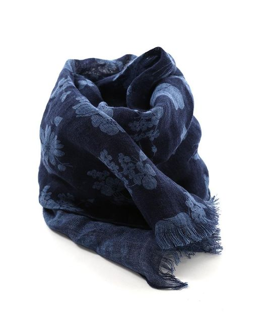 Destin - Blue Stola Denim Flower Scarf - Lyst