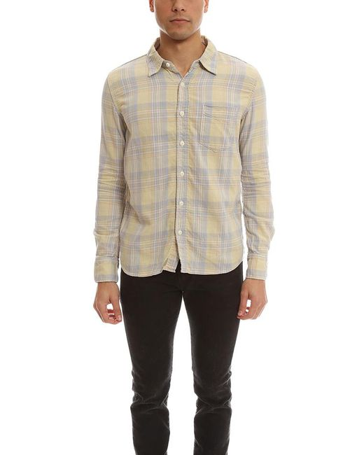 Remi Relief | Yellow Madras Check Shirt for Men | Lyst