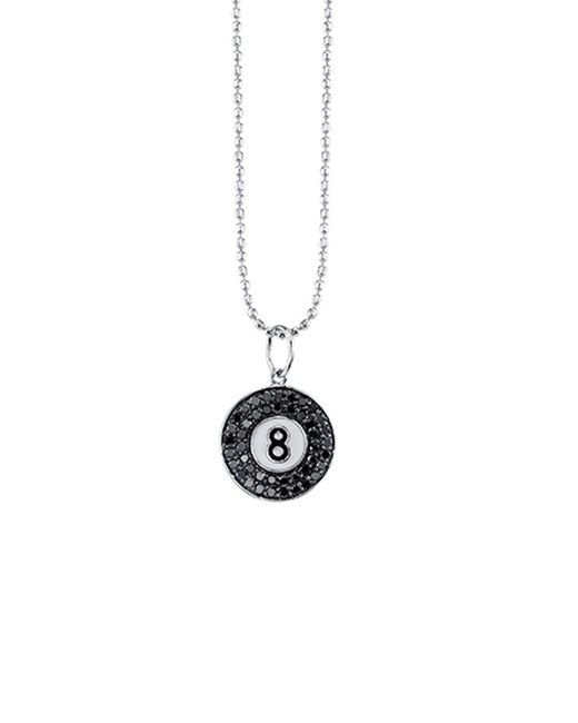 Sydney Evan | Metallic Pave 8 Ball Charm Necklace | Lyst