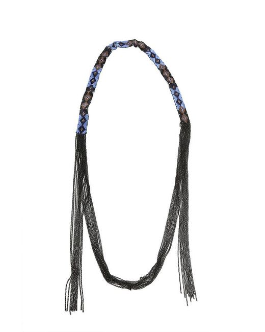 Chan Luu - Blue Glass Bead Necklace - Lyst
