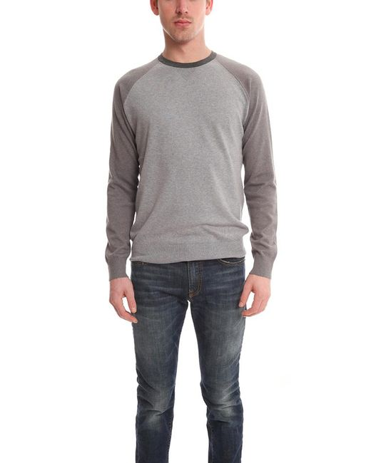 Vince - Gray Colorblock Crewneck Ls for Men - Lyst