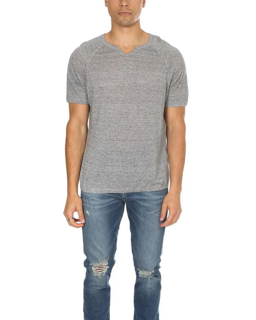 Blue&Cream | Gray Autumn Cashmere Split Neck Raglan for Men | Lyst
