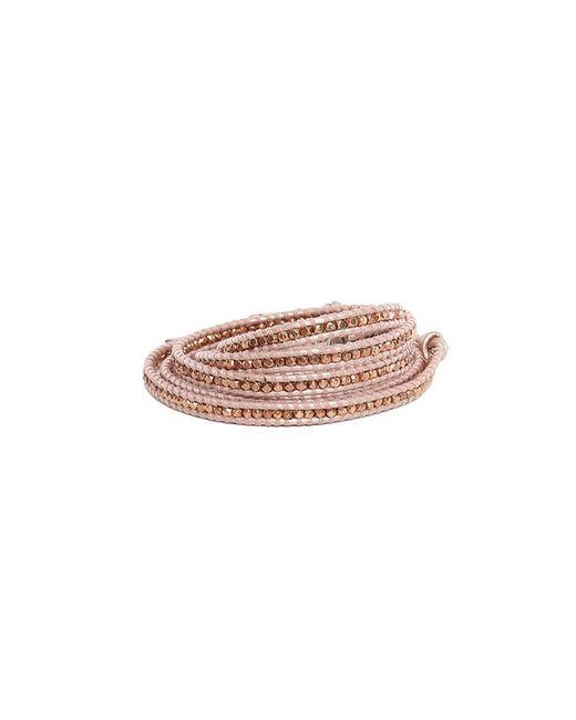 Chan Luu | Brown Suraiya Rose Gold Bead Wrap Bracelet | Lyst