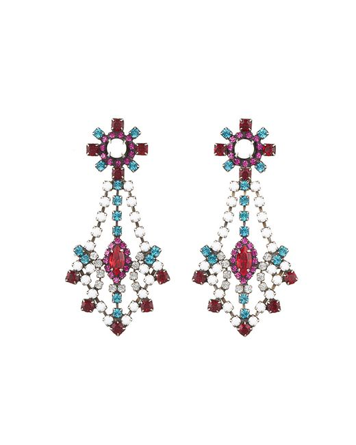 DANNIJO | Metallic Grace Crystal Statement Earrings | Lyst