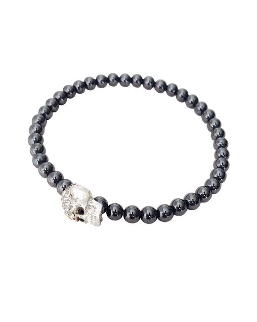 Duchess Of Malfi | Metallic Skull Bead Bracelet for Men | Lyst