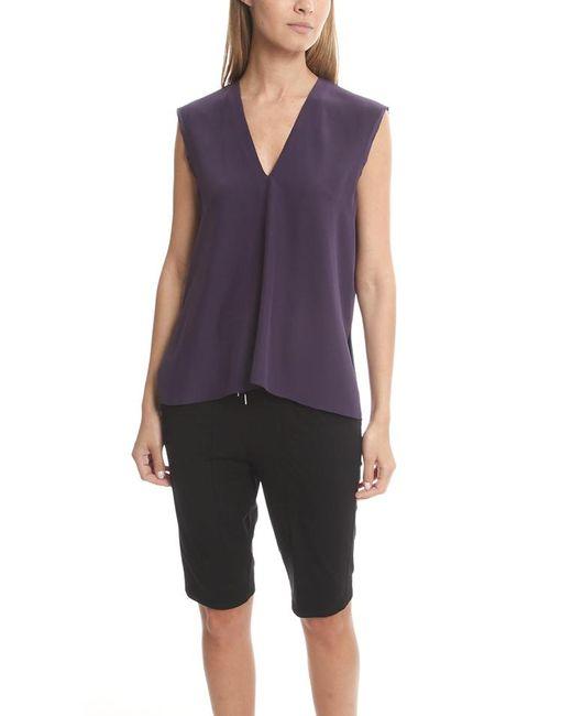 Helmut Lang | Purple Mere Silk Top | Lyst