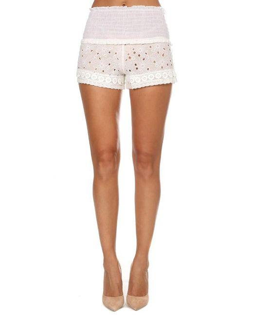 MISA | White Meli Shorts | Lyst