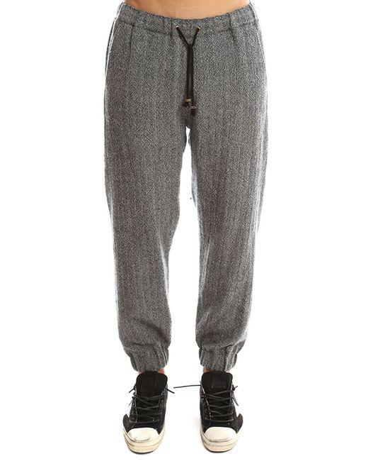 Robert Geller | Gray Herringbone Pant for Men | Lyst