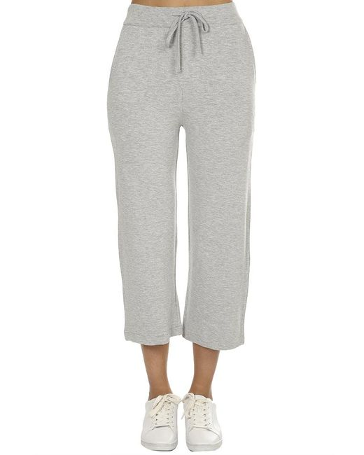 Majestic Filatures - Gray French Terry Midi Pants Grey - Lyst