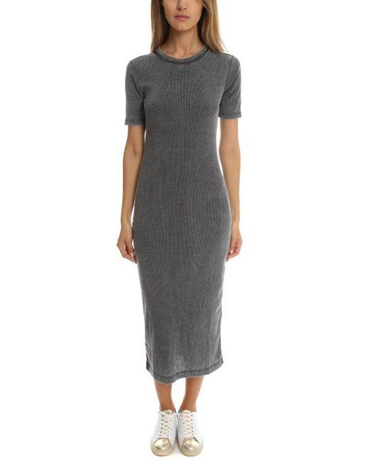 The Kooples - Gray Long Jersey Dress - Lyst