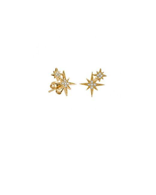 Sydney Evan - Metallic Diamond Double Starburst Stud Earrings - Lyst