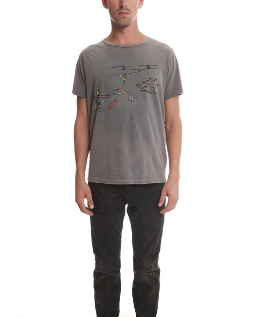 Remi Relief | Gray Shortsleeve Vintage Footstep Tee for Men | Lyst
