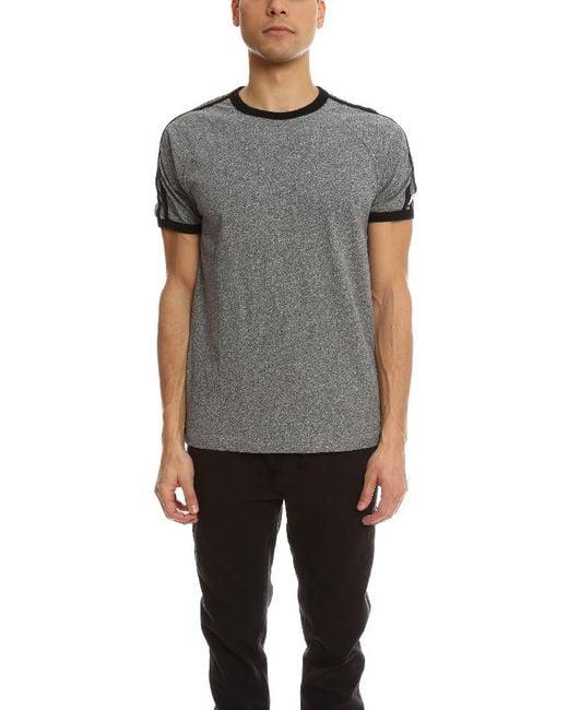 Todd Snyder - Gray Short Sleeve Applique Stripe Tee for Men - Lyst