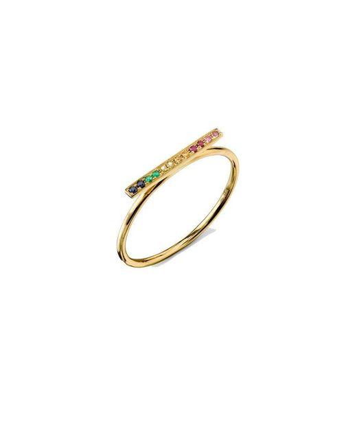 Sydney Evan - Metallic Rainbow Bar Ring - Lyst