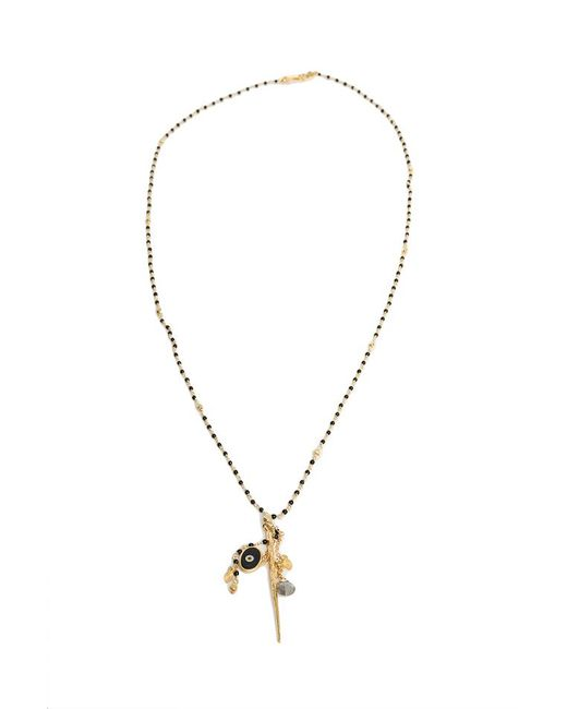 Chan Luu - Metallic Nickel Onyx Gold Dagger Pendant Necklace - Lyst