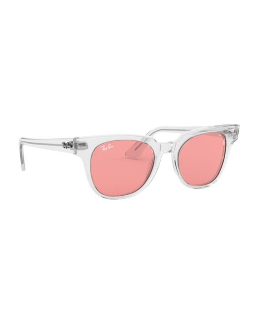 70d2c3fda6 Ray-Ban Meteor Sunglasses Rb2168 912 v7 50mm in Pink - Lyst